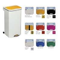 PEDAL OPERATED COLOUR CODED WASTE BINS