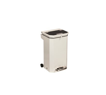 BIN PEDAL 20 LTR WITH BLACK LID FOR DOMESTIC WASTE