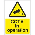 SIGN - CCTV S/A VINYL 150MM X 200MM BLACK ON YELLOW