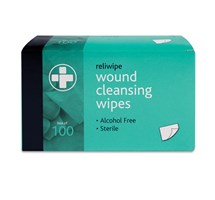 WIPES WOUND ALCOHOL FREE X 10 (RELIWIPE)
