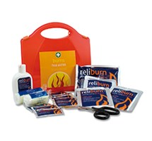 BURNS FIRST AID  KIT (ORANGE STANDARD AURA BOX)
