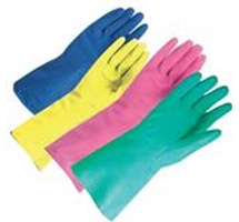 GLOVE HOUSEHOLD - GREEN - SMALL LATEX (6-6 1/2) X 1 PAIR (COLOUR CODED)