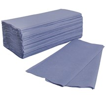 PAPER TOWEL INTERFOLD BLUE 1 PLY X 4600