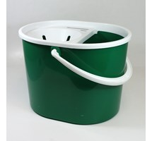 MOP BUCKET OVAL WITH SIEVE GREEN 7 LTR (COLOUR CODED)
