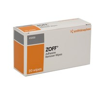 ZOFF PLASTER REMOVER WIPES SACHET OF 20 WIPES