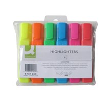 HIGHLIGHTER PEN (Q-CONNECT) ASSORTED WALLET OF 6