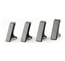 LETTER TRAY RISERS (Q-CONNECT) EXECUTIVE BLACK X 4