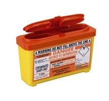 SHARPS BIN+LID 1LTR ORANGE