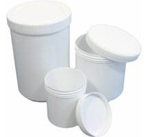 CONTAINER PLASTIC 250mls WITH SCREW TOP (WHITE) X70