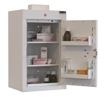 CABINET CONTROLLED DRUGS (1 DOOR) 66X34X27CM (2 SHELVES) WITH WARNING LIGHT