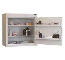 CABINET CONTROLLED DRUGS (1 DOOR) 60X60X30CM (2 SHELVES) NO WARNING LIGHT