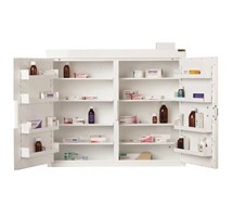 CABINET CONTROLLED DRUGS (2 DOORS) 85X100X30CM (8 SHELVES) NO WARNING LIGHT