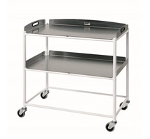 TROLLEY DRESSING (SUNFLOWER) LARGE (86CM X 86CM X 52CM) 2 STAINLESS STEEL TRAYS