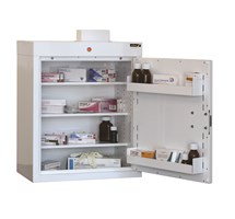 CABINET MEDICINE (SINGLE DOOR) 66X50X30CM (3 SHELVES) WITH WARNING LIGHT