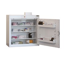 CABINET MEDICINE (SINGLE DOOR) 66X60X30CM (3 SHELVES) WITH WARNING LIGHT