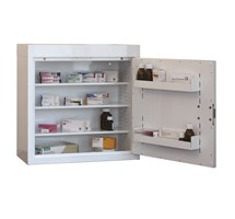 CABINET MEDICINE (SINGLE DOOR) 60X60X30CM (3 SHELVES) NO WARNING LIGHT