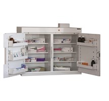 CABINET MEDICINE (TWO DOORS) 66X80X30CM (6 SHELVES) WITH WARNING LIGHT