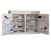 CABINET MEDICINE (TWO DOORS) 60X80X30CM (6 SHELVES) NO WARNING LIGHT