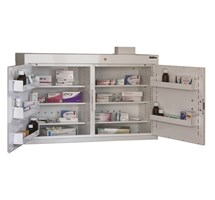 CABINET MEDICINE (TWO DOORS) 66X100X30CM (6 SHELVES) WITH WARNING LIGHT