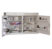 CABINET MEDICINE (TWO DOORS) 60X100X30CM (6 SHELVES) NO WARNING LIGHT
