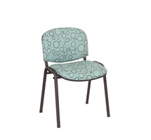 CHAIR GALAXY VISITOR WITH ARMS INTER/VENE ANTI-BACTERIAL UPHOLSTERY GREEN