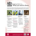 POSTER HEALTH & SAFETY AT WORK GUIDE A2 SIZE X 1
