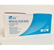 FACE MASK TYPE I I R LOOPED BLUE X 50