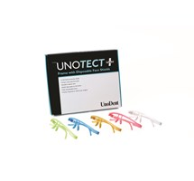 FACE SHIELD UNOTECT+ (UNODENT) PINK FRAME 12 DISPOSABLE SHIELDS AUTOCLAVABLE
